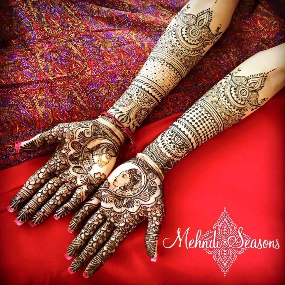 Bridal Mehendi Design For Full Hands Both Pics