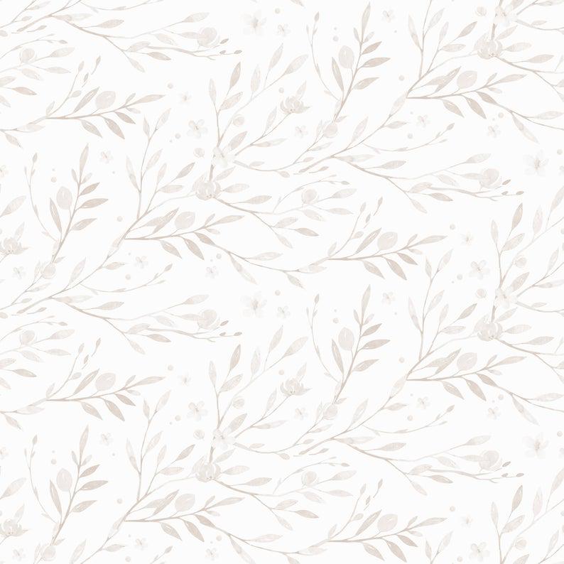 Minimal Floral Wallpaper Linen Color Wallpaper Peel And Etsy Floral Wallpaper Colorful Wallpaper Wallpaper