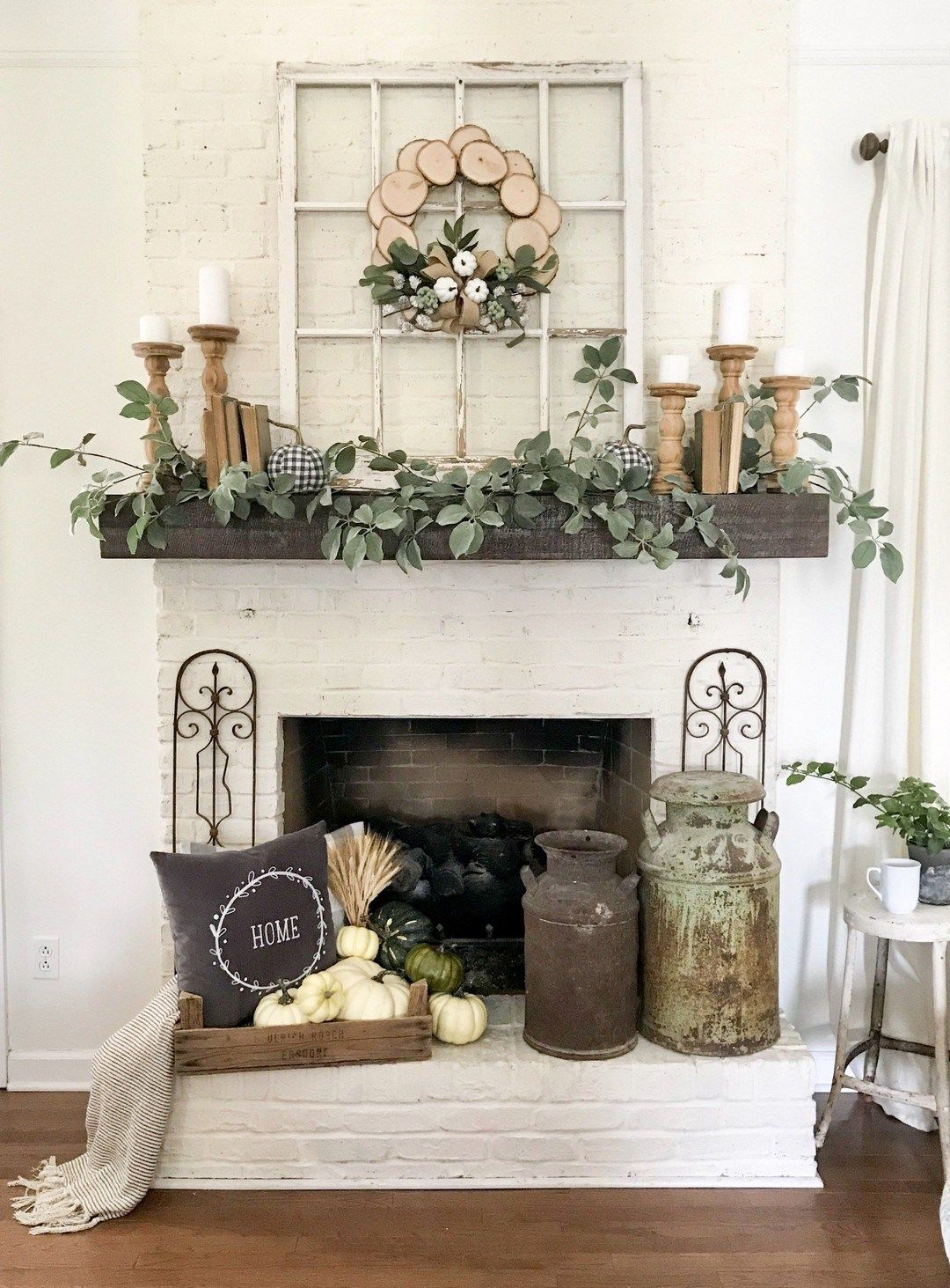 Photo of 96 Beautiful Farmhouse Fireplace Mantel Decorations That Will Make – Farmhouse…