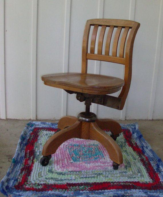 Groovy 1920 Murphy Oak Swivel Desk Chair 349 Itsallaboutme Oak Uwap Interior Chair Design Uwaporg