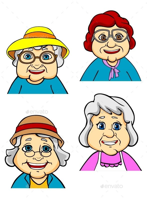 24++ Old lady face clipart info