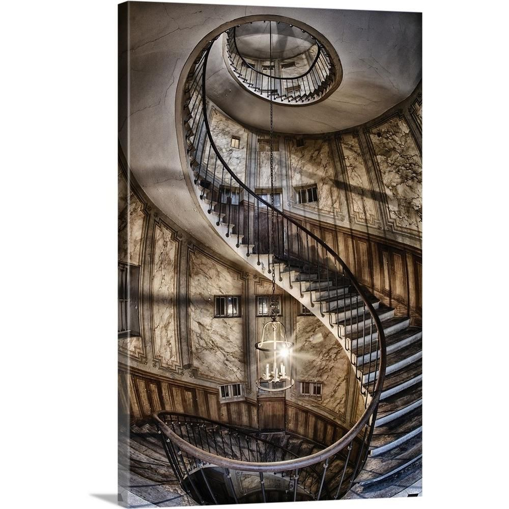 "Inspiring Travel Photography By Scott Stulberg: GreatBigCanvas 20 In. X 30 In. """"Spiral Staircase In Paris"