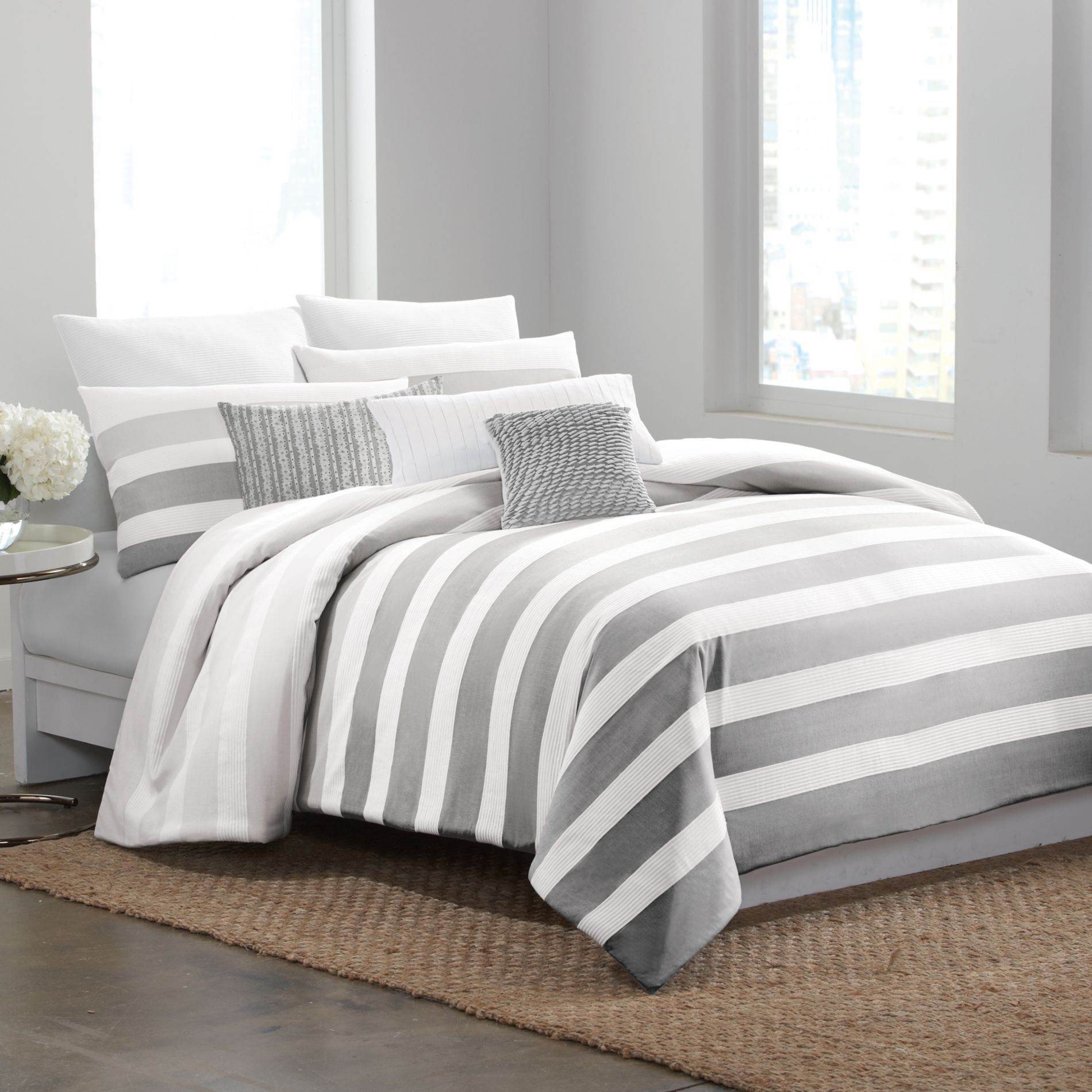 Love This Dkny 174 Highline Grey Duvet Cover