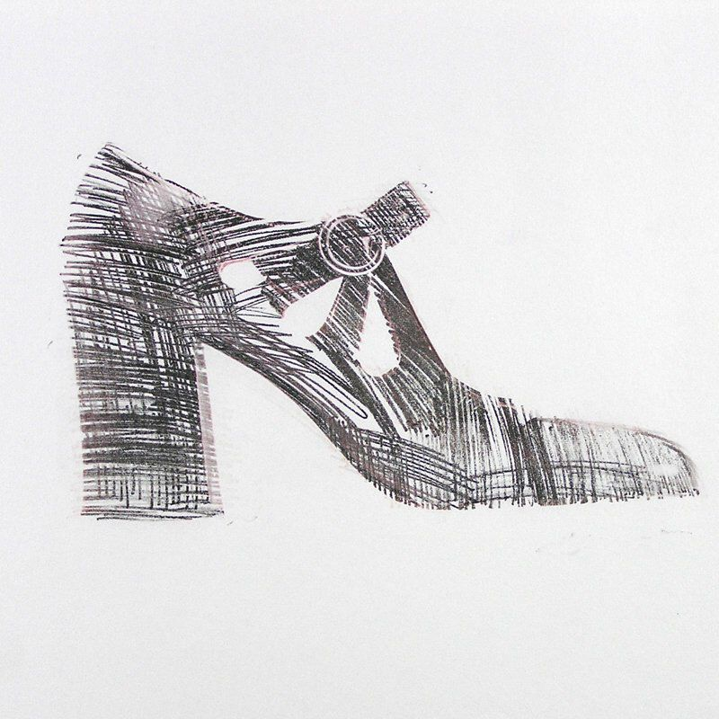 Excited To Share This Item From My Etsy Shop Vintage 1969 Shoe Drawing Mod Shoe Drawing Vintage Drawing Of High Heel Shoes Drawing Fashion Drawing Mod Shoes