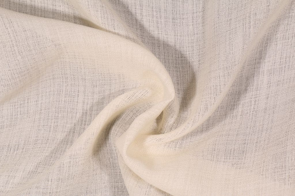 Richloom Nautilus Sheer Polyester Drapery Fabric In Flax This Is