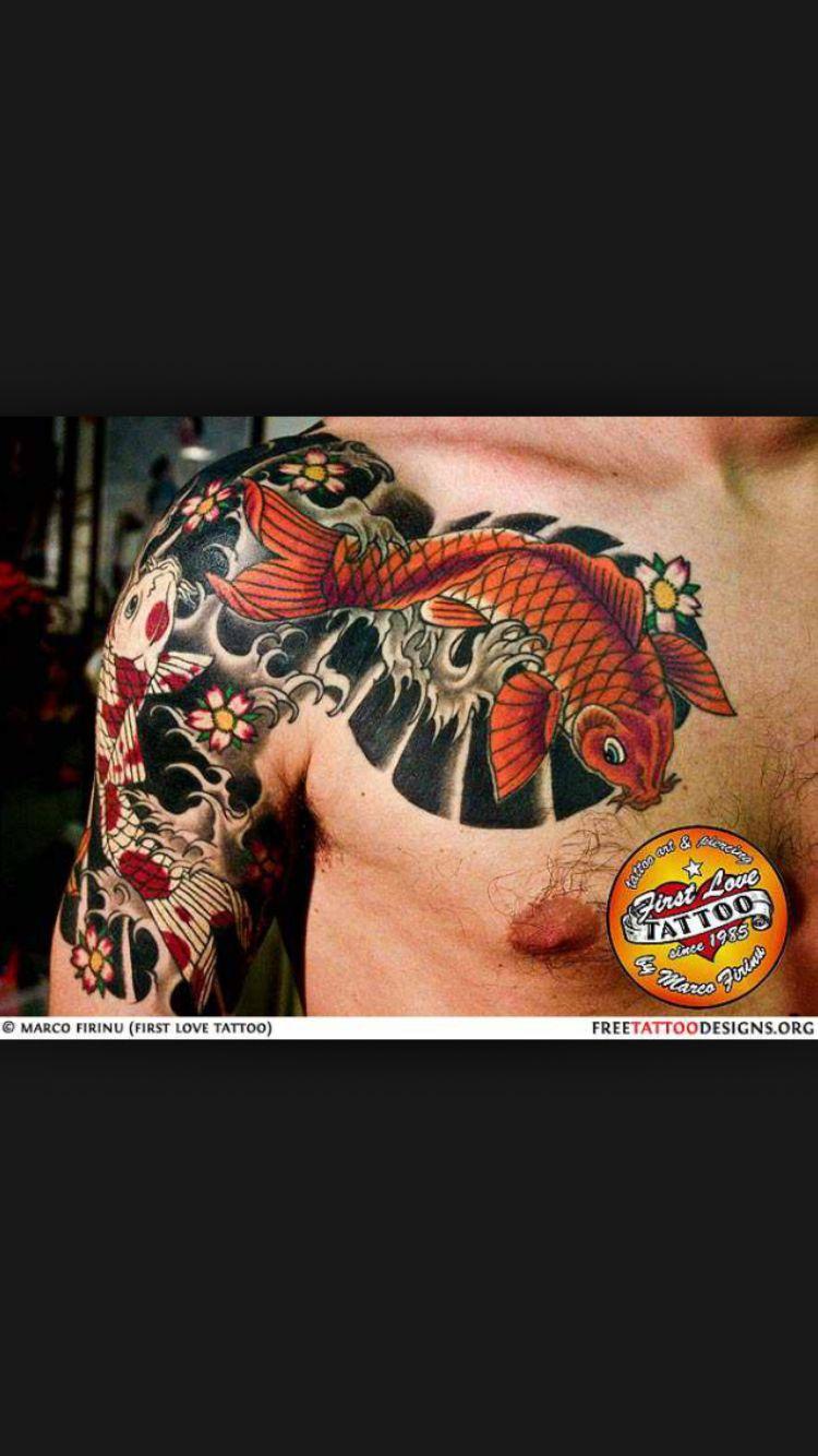 Tattoos for men koi fish sweet koi tattoo sleeve  jacks board  pinterest  koi tattoo