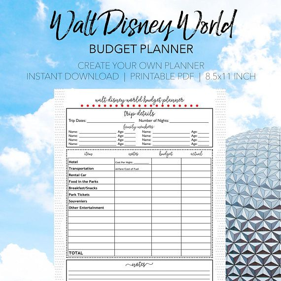 Plan Your Dream Vacation With This Walt Disney World Budget