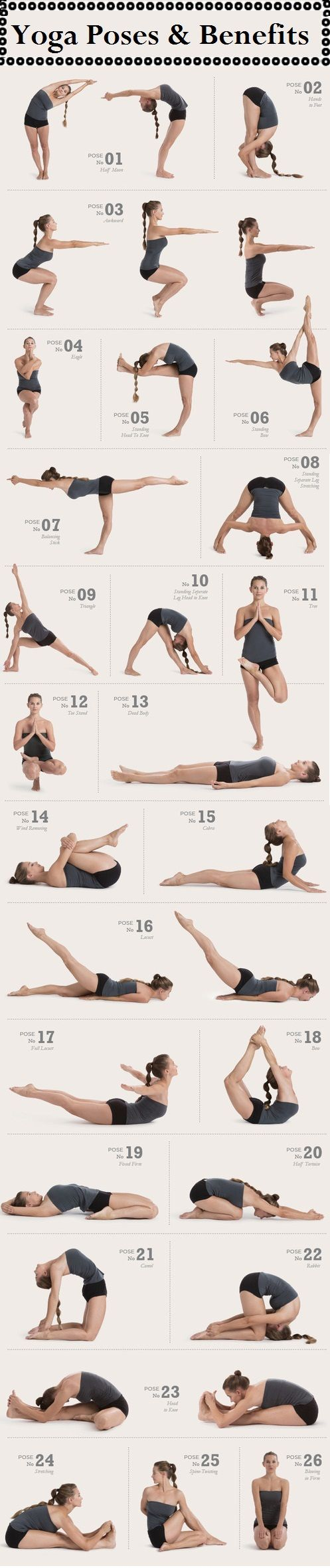 Yoga  Top yoga poses, Yoga poses, Health fitness