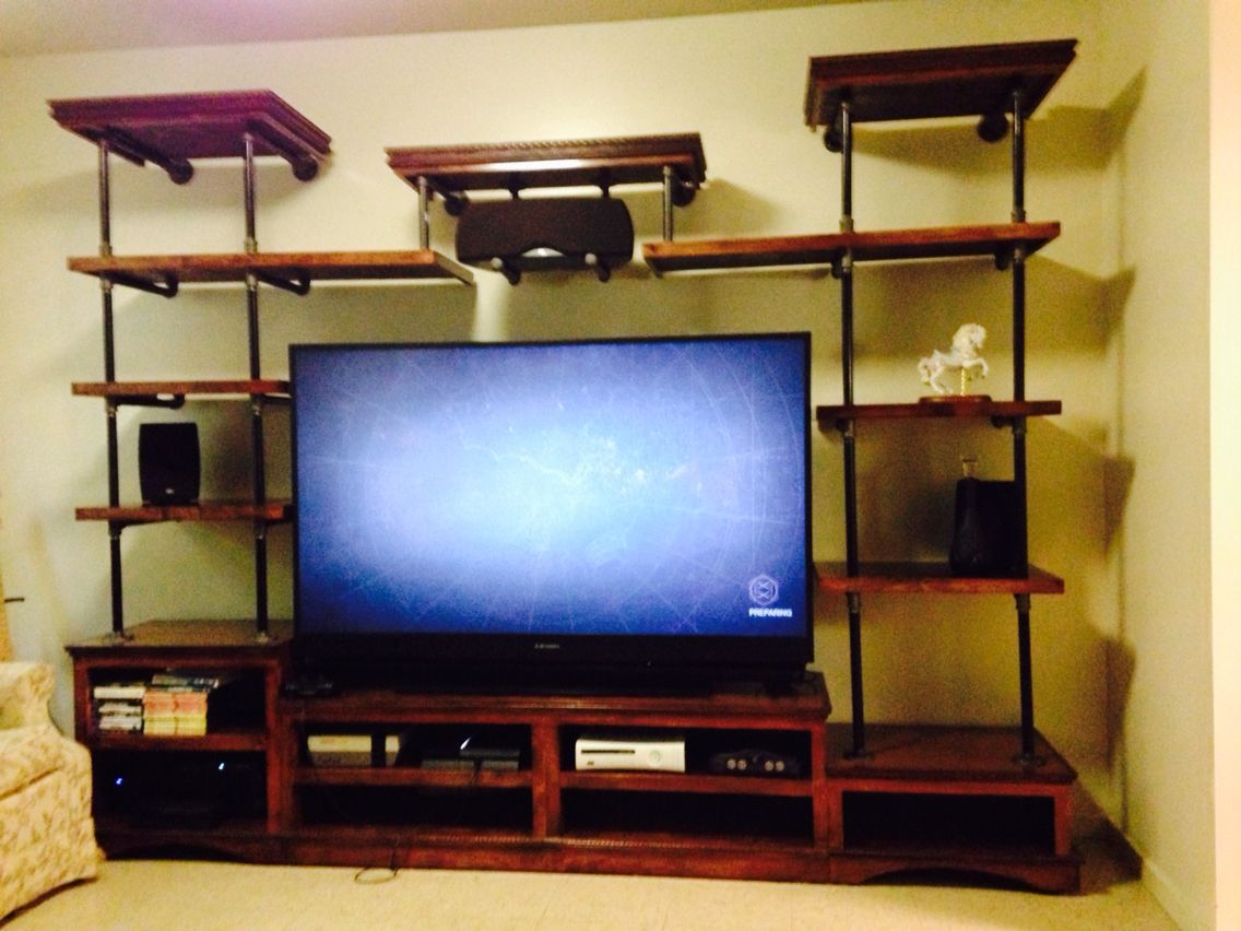 Pin On Black Pipe Entertainment Center