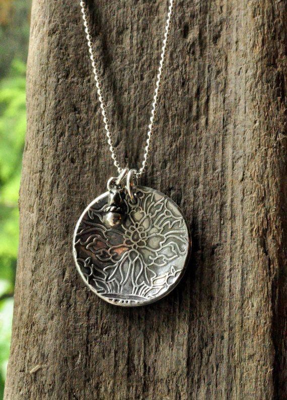 Fine Silver Pendant Necklace Precious Metal by salishsilvernsea