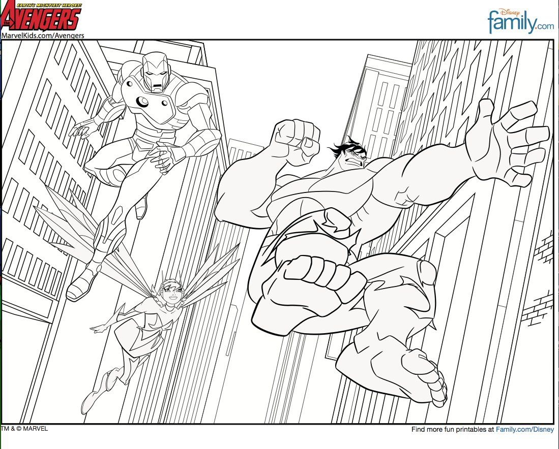 Printable Avengers Coloring Pages >> Disney Coloring Pages ...
