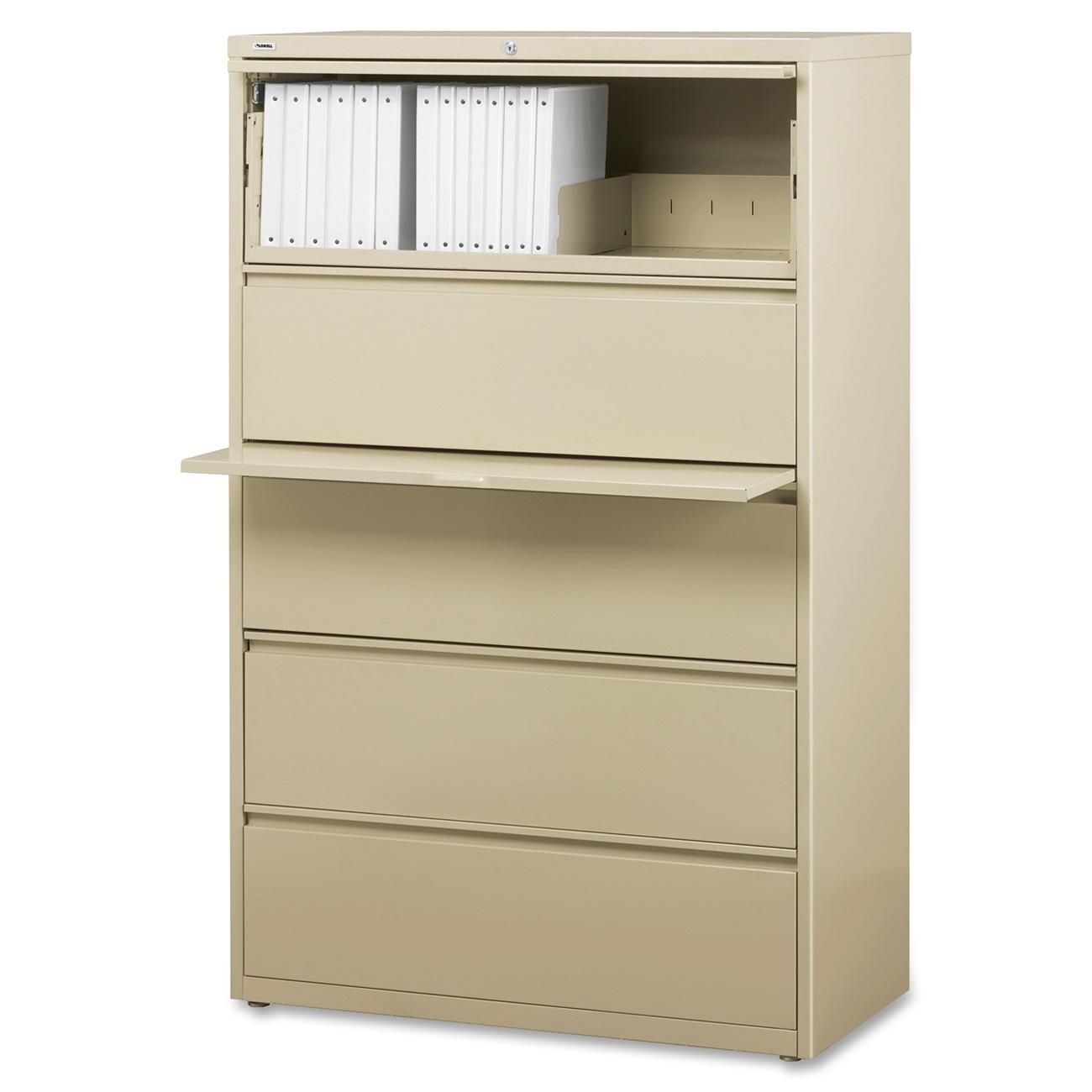Lorell Putty Pink 42 Inch 5 Drawer Lateral File Llr60432 Binder Storage Lateral File Cabinet Filing Cabinet