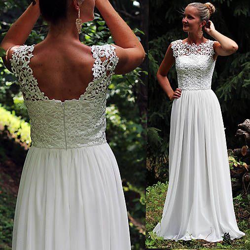 Dyona / Svadobné šaty z hrubej krajky