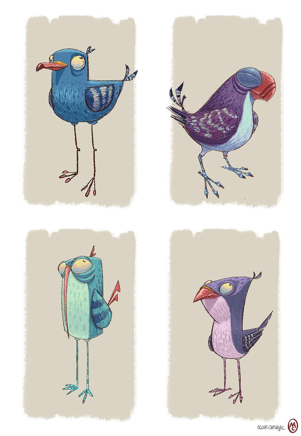 прикольные птички рисунок изготовлении шкафов