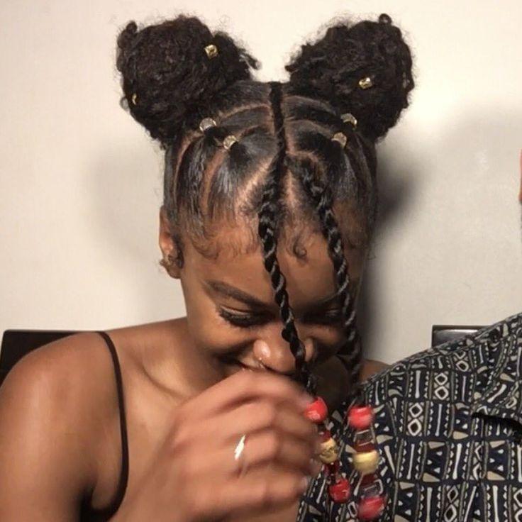 Tresses Africaines Vanilles Sur Cheveux Crepus Naturels Et Nappy