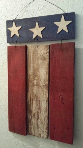 Flag Made From Old Fence Boards Pallet Crafts Wood Crafts Pallet Art