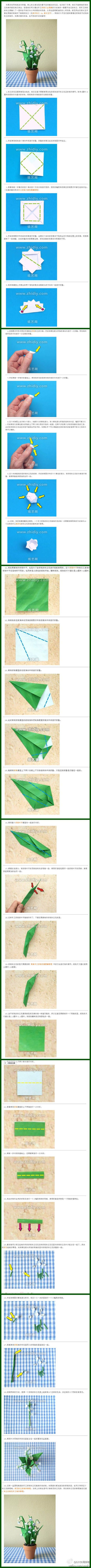 Origami Bell Orchid Flower Folding Instructions Origami