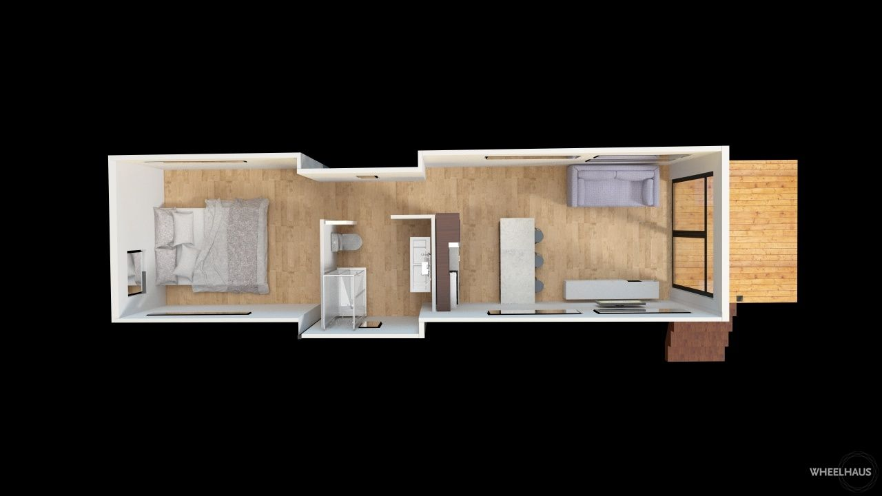 The design of the Light Haus park model home is long and lean to – Rv Park Building Plans