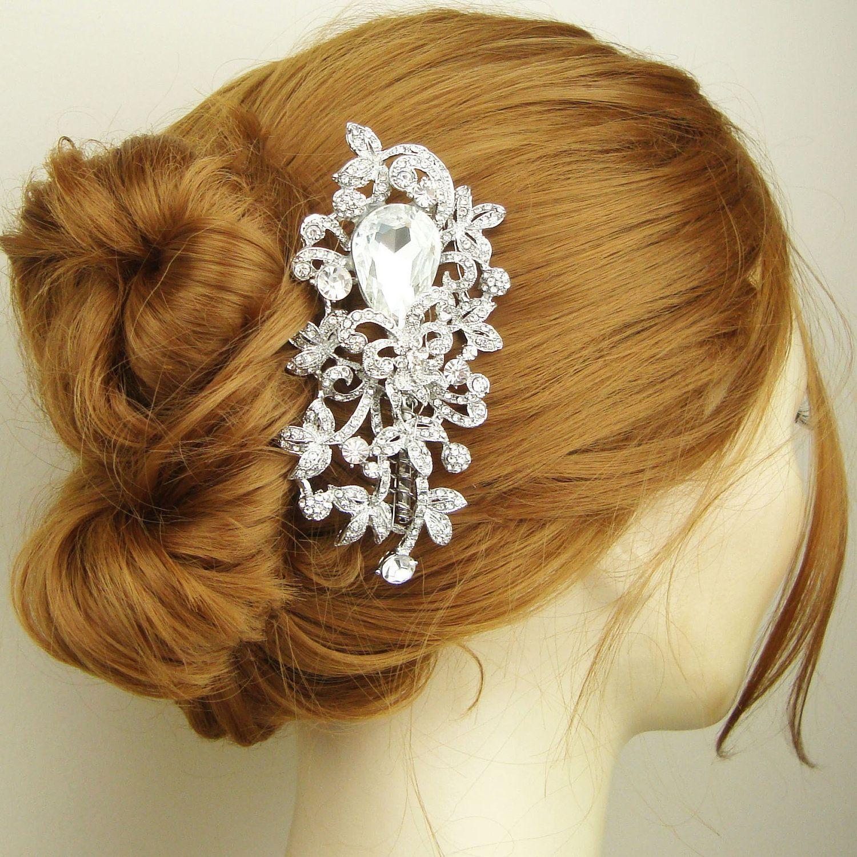 Victorian Style Wedding Hair: Victorian Style Bridal Hair Comb, Filigree Crystal Wedding