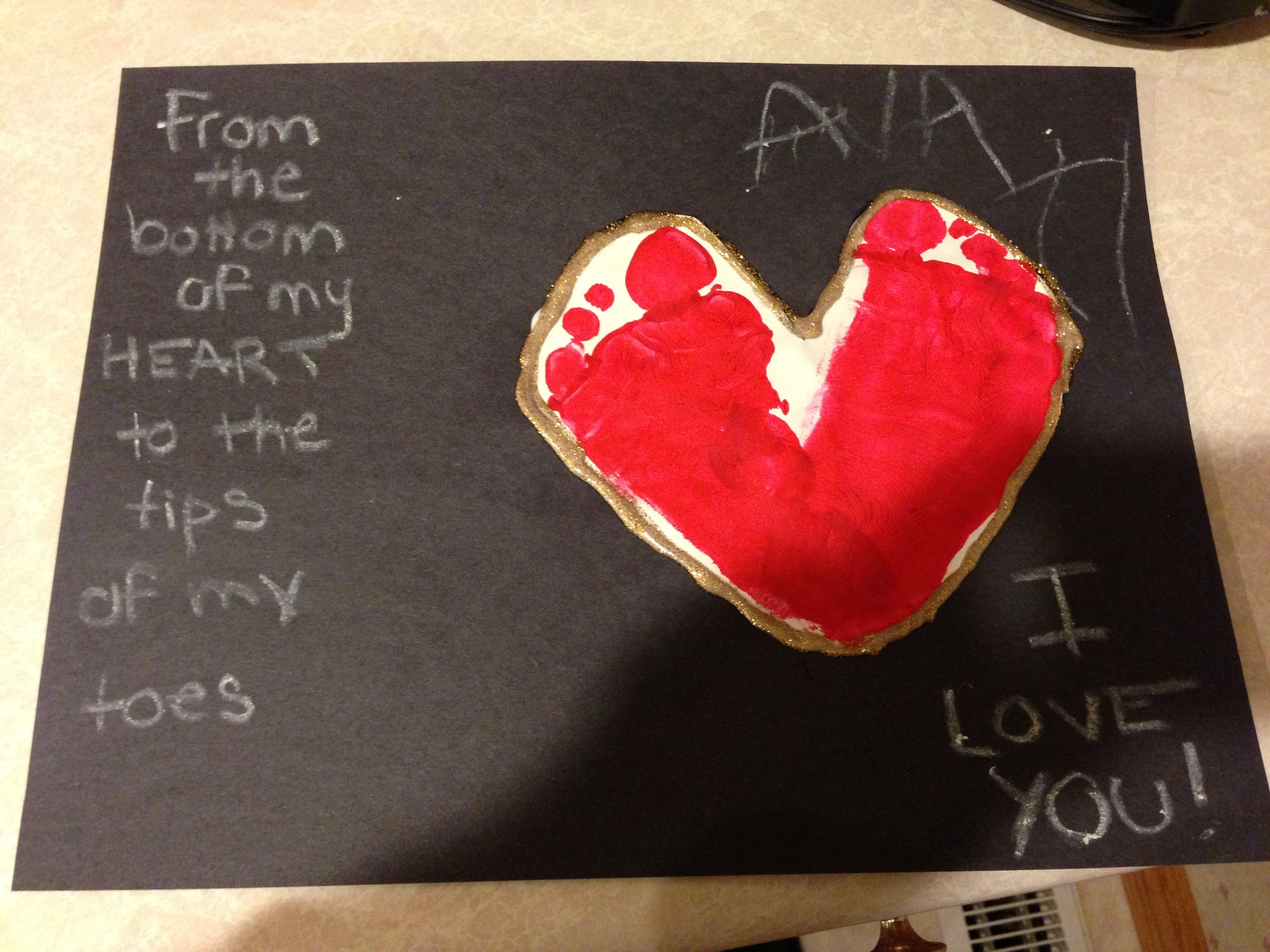 Valentines day toddler craft Cute homemade Fathers Day card – Valentine Card for Preschoolers