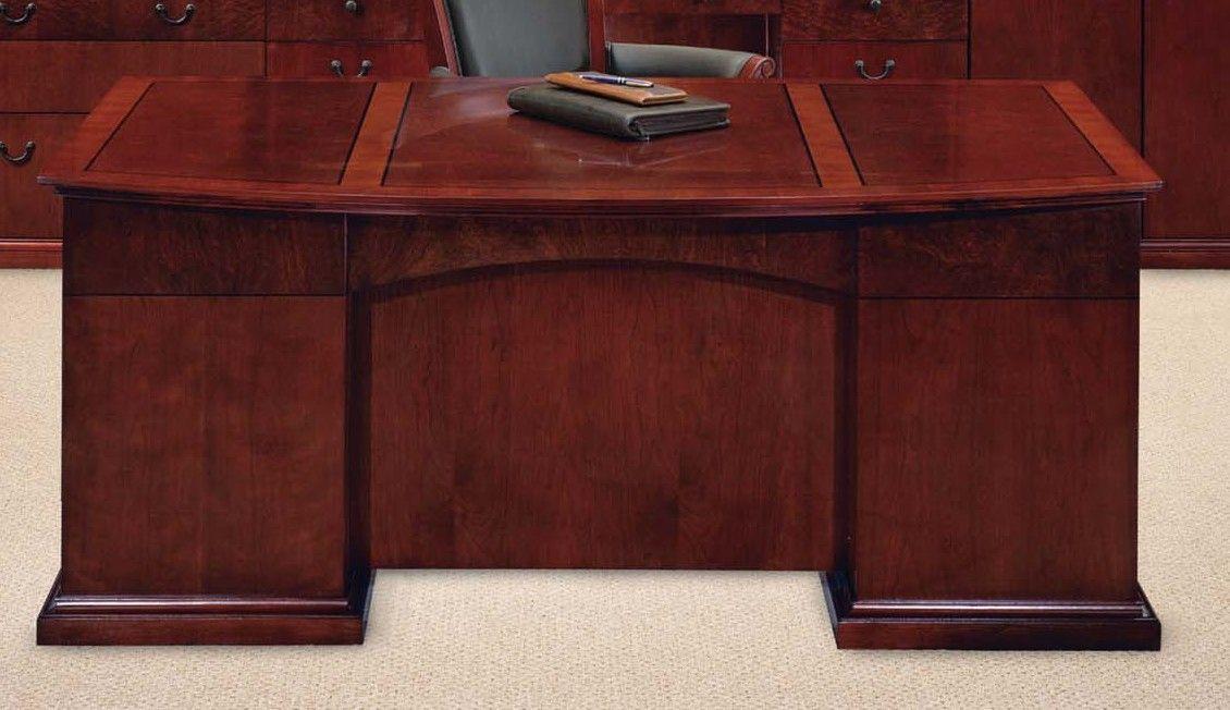 Del Mar Bow Front Executive Desk