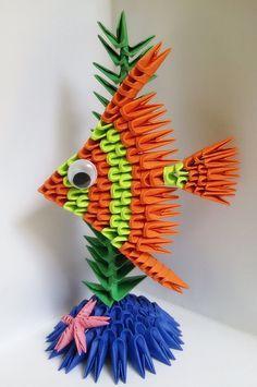 3d Origami Fish