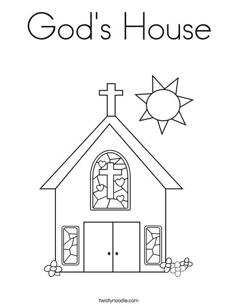 God\'s House Coloring Page | Daisies | Pinterest | House