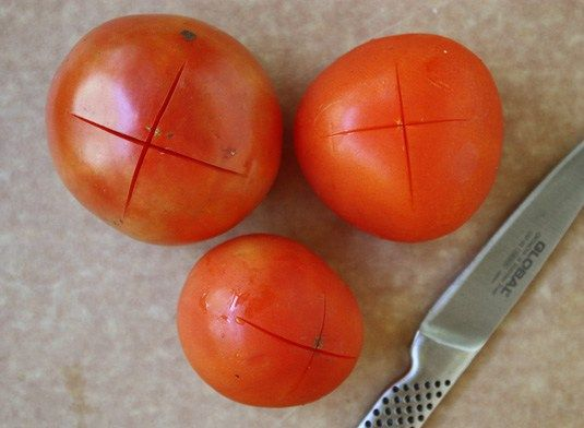 how to peel fresh tomatoes for sauce