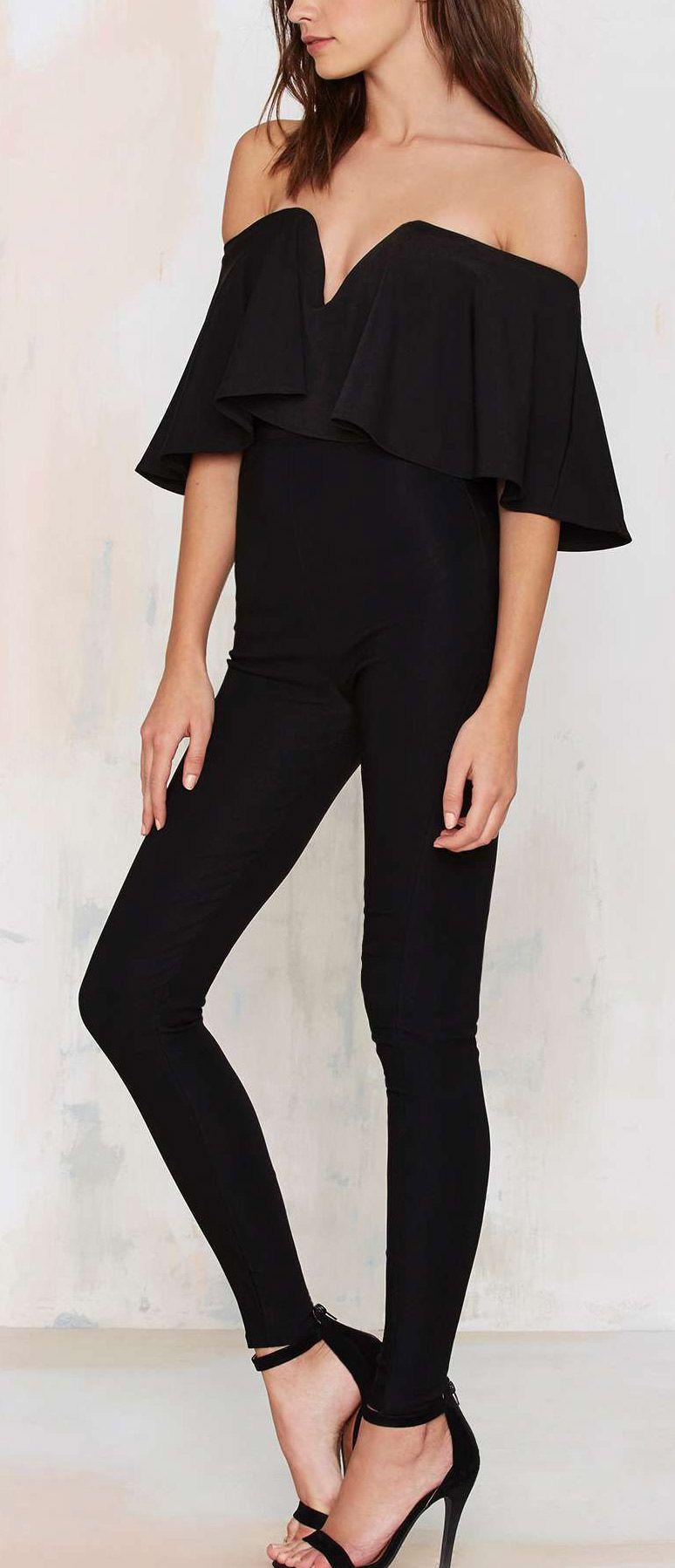 8e16281df2675a Off shoulder jumpsuit | Style | Fashion, Jumpsuit, Style