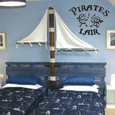 Not so much the pirate thing (though it's cool in itself) just had never thought about putting two beds so close together.. whole world may open up!