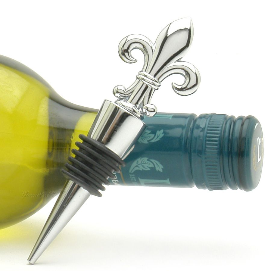 Fleur de Lis Wine Bottle Stopper Favor | Gift Ideas | Pinterest ...