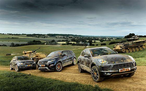 Porsche Macan vs Range Rover Evoque vs  Audi SQ5