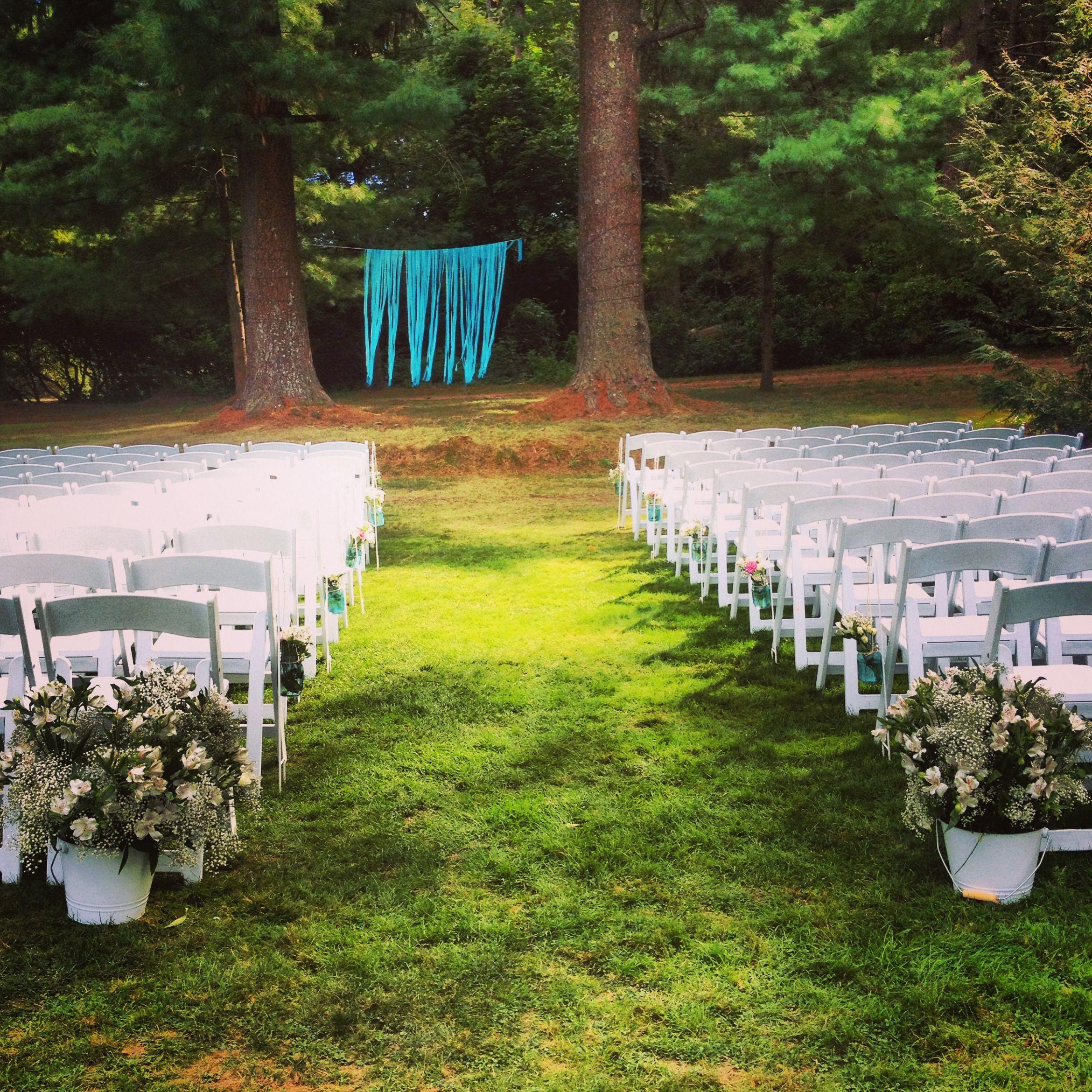 The Estate At Moraine Farm, Beverly, MA Ceremony Set Up