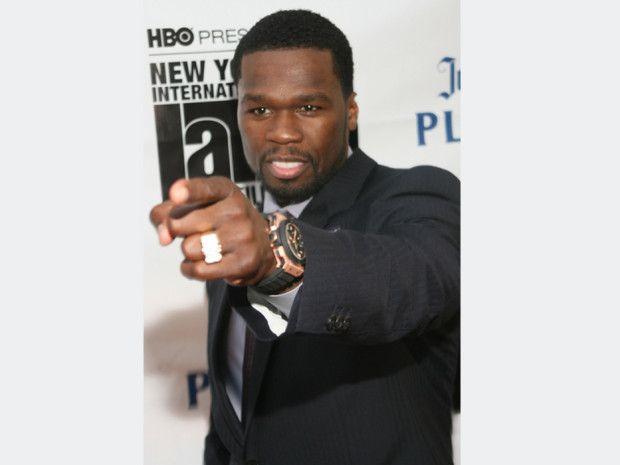 50 Cent Spotted Wearing Hublot King Power Markenbotschafter