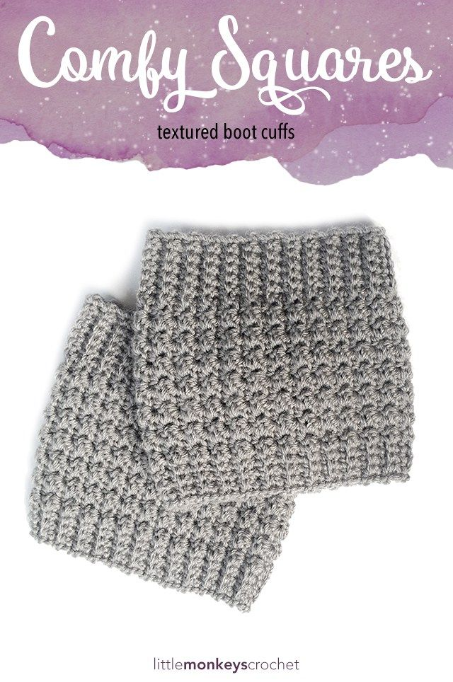 Comfy Squares Textured Boot Cuffs Monkey Comfy And Crochet
