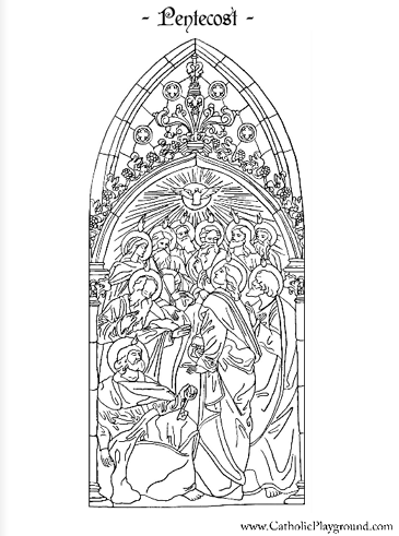 pentecost coloring page. catholicplayground.com has dozens