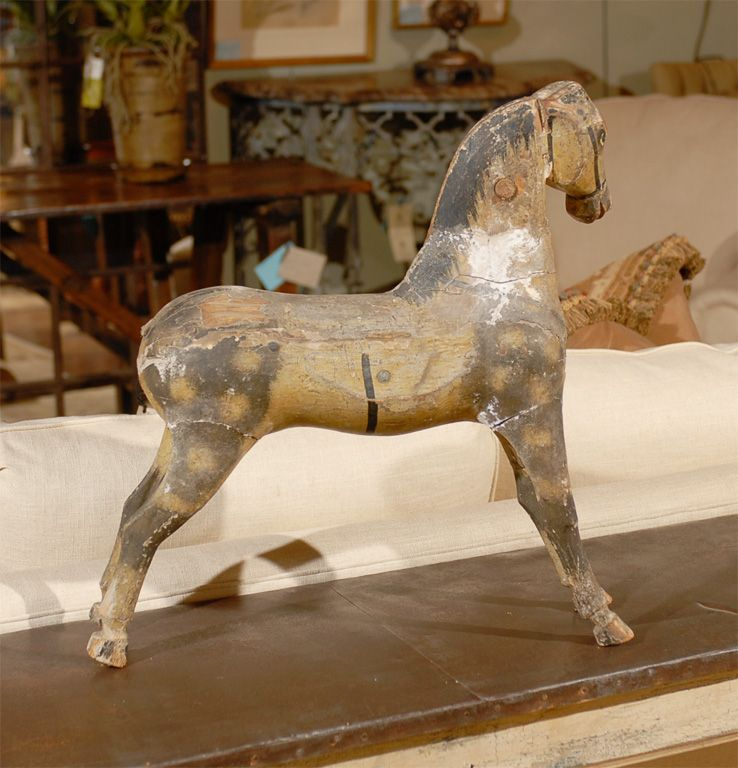 old wooden horses | ... Swedish Decorating: Swedish Rocking Horse Seller Antiques & Galleries