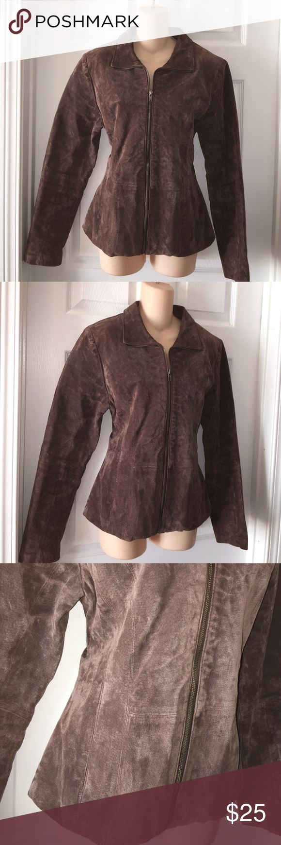 Wilsons Leather 100% Leather Brown jacket Medium very good condition! no rips stains tears Wilsons Leather Jackets & Coats