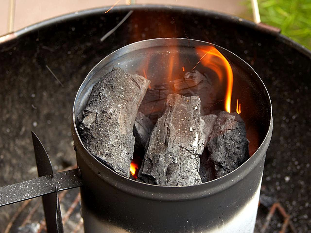 How To Make A Homemade Charcoal Chimney Starter Thrifty Outdoors Man Charcoal Chimneys Homemade Fire Starters Homemade