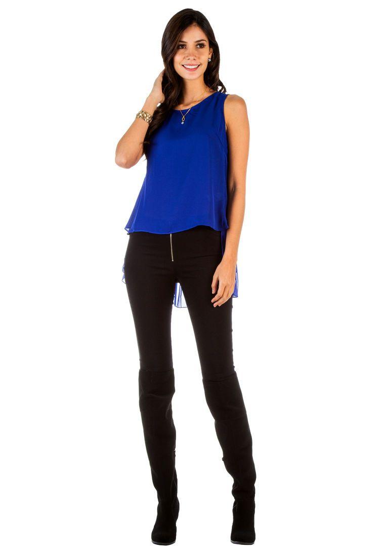 Blusa Azul Royal In Style - Compra Ahora | Dafiti Colombia | Blusa Azul | Pinterest | Blusa Azul ...