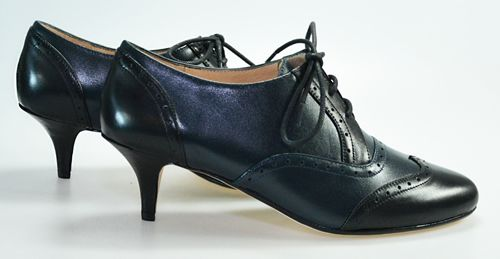 Black & Navy Oxford