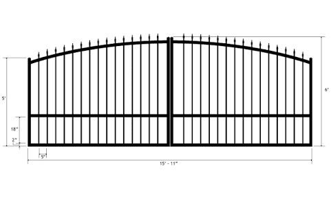 Standard Size Of Main Gate Architecture Pinterest