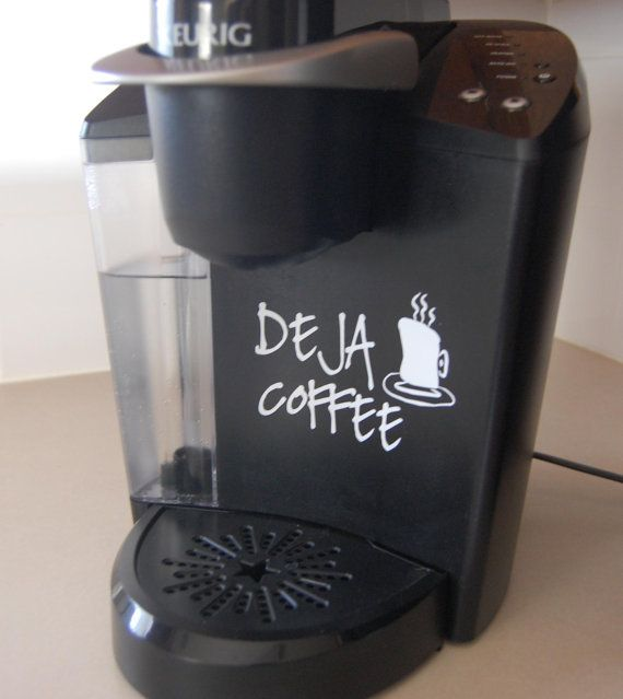 Decorative Vinyl Decals For Your Keurig Or Any FullSize Coffee - Make your own decals machine