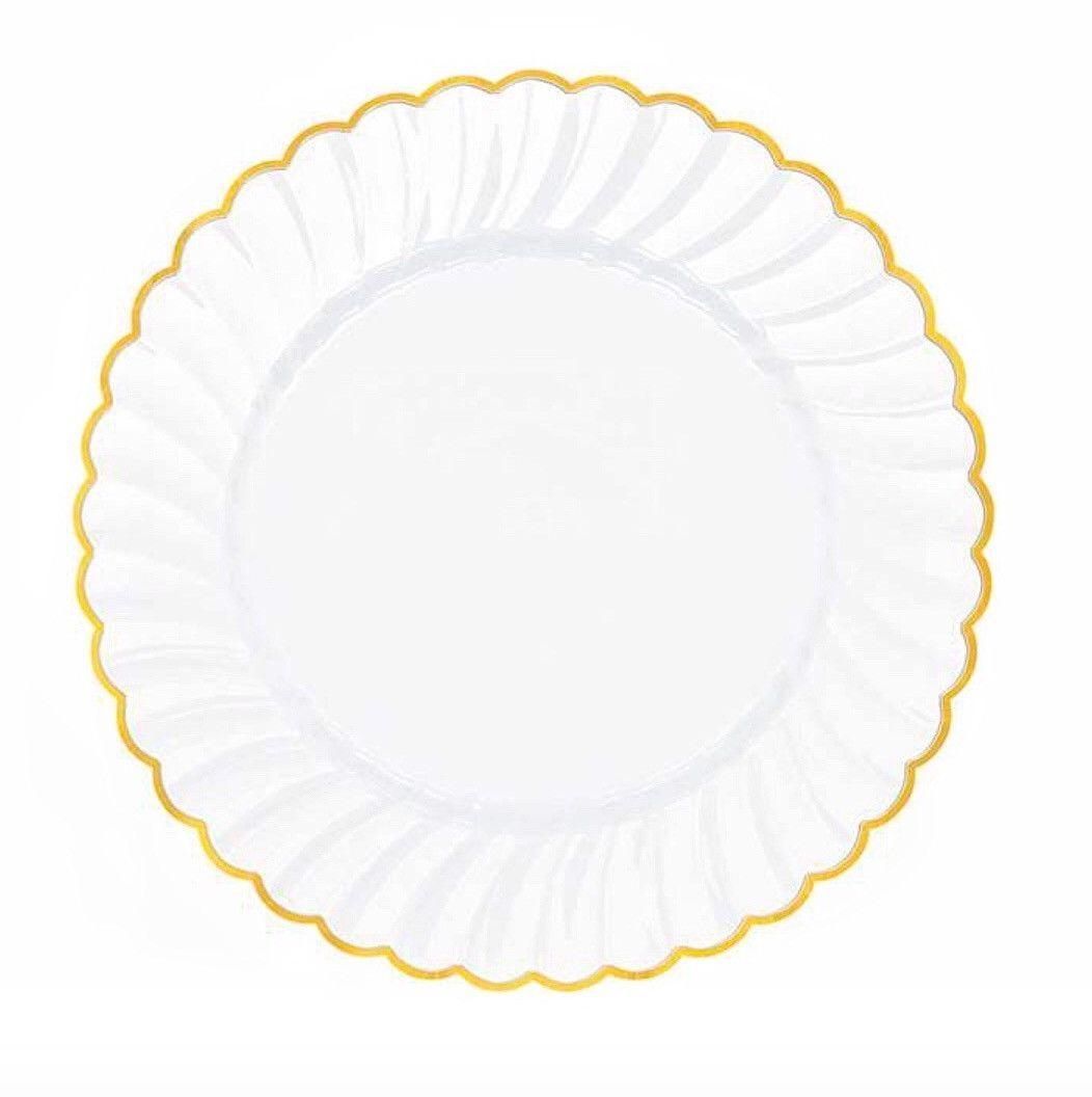 Formal Disposable Dinnerware White Plastic Plates Wedding Plates Plastic Plates