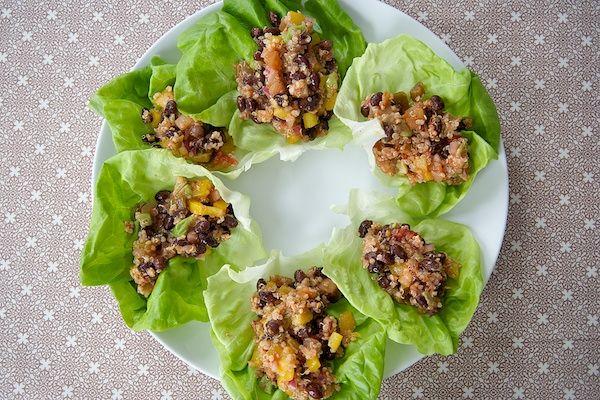 Quinoa Lettuce Wraps.