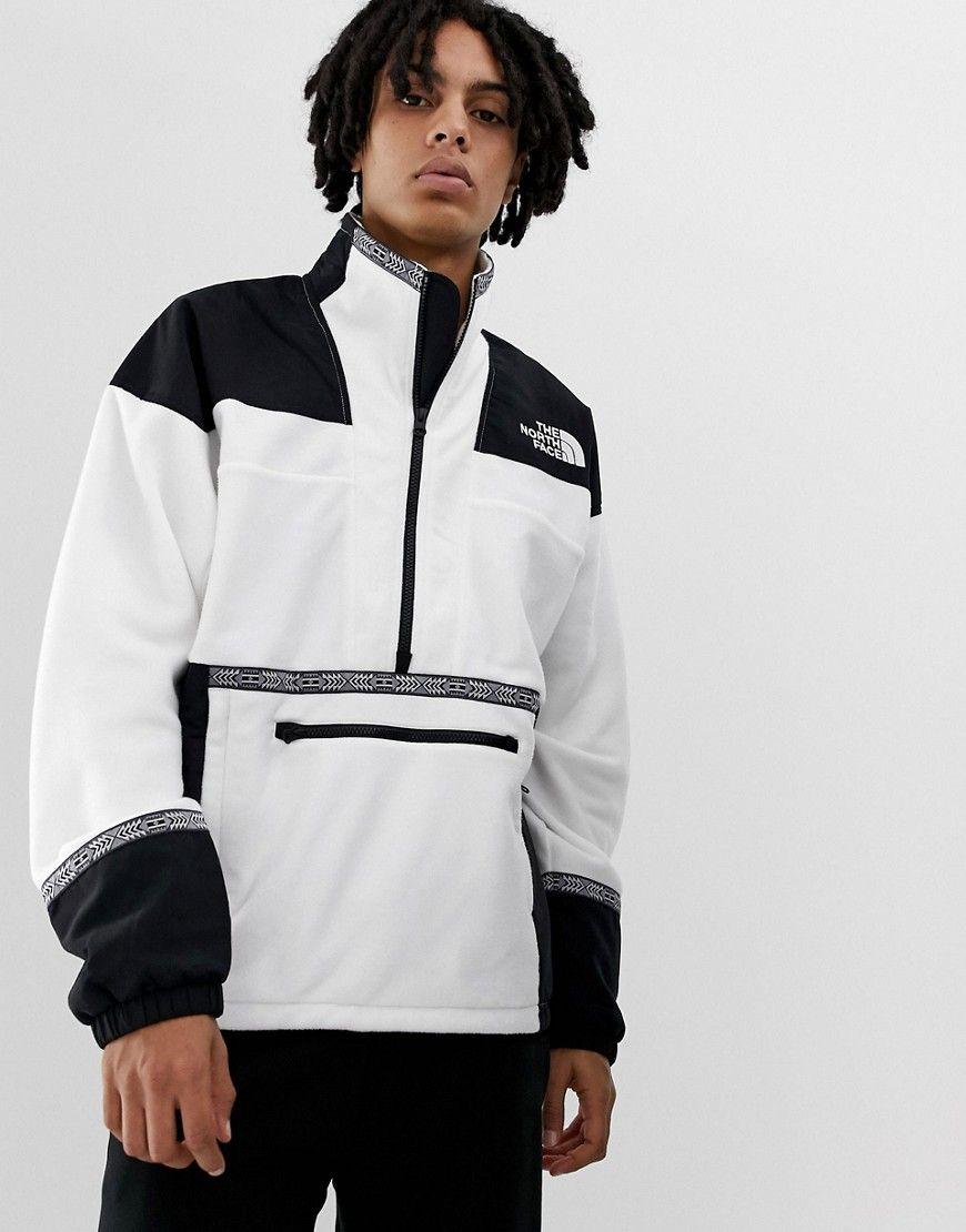 The North Face 92 Rage Fleece Anorak In White Brown Thenorthface Mens Sweatshirts Hoodie Hoodies Men North Face Fleece [ jpg ]