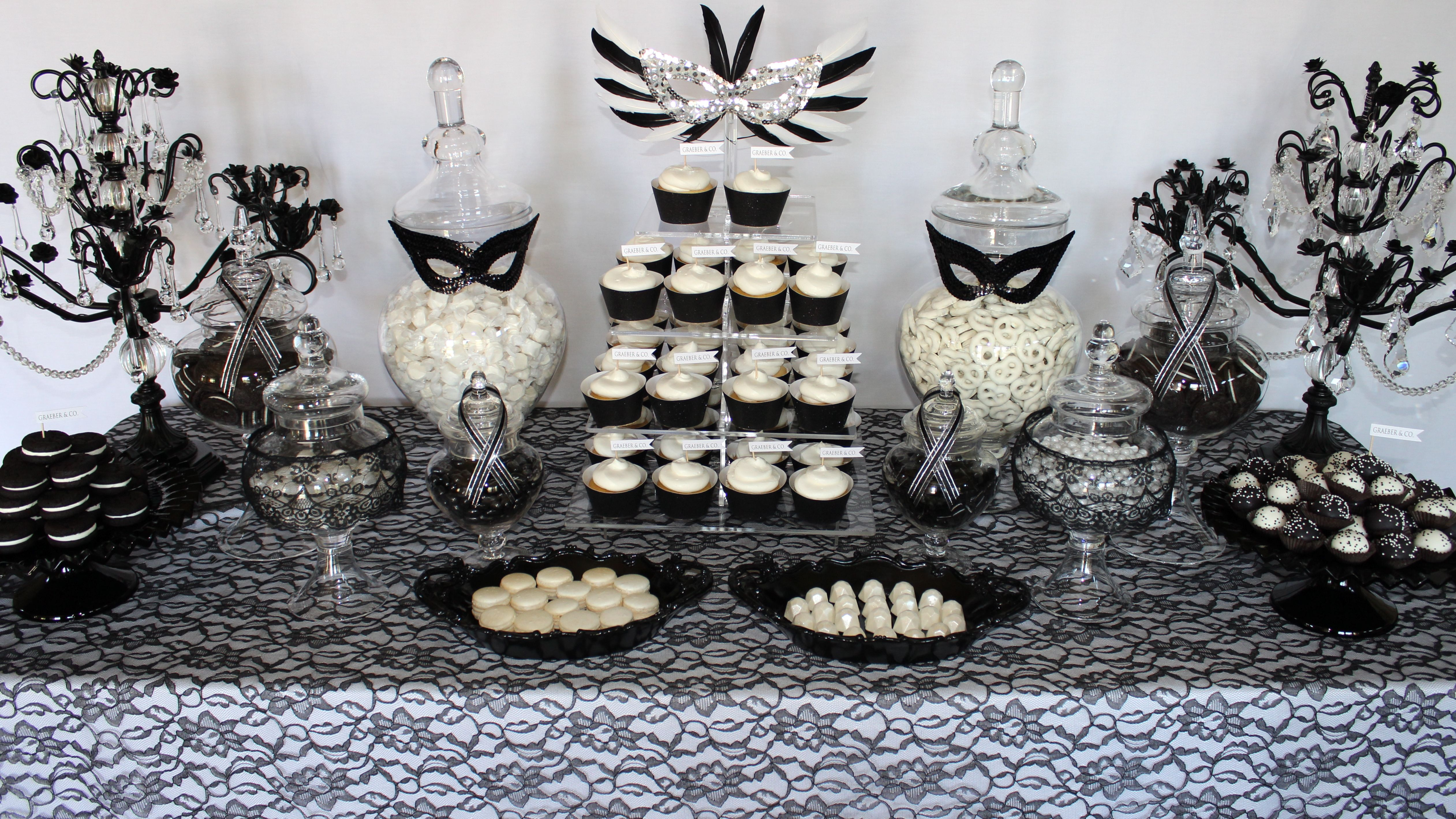 Masquerade Dessert Display by Eye Candy Event Design | We Like To ...