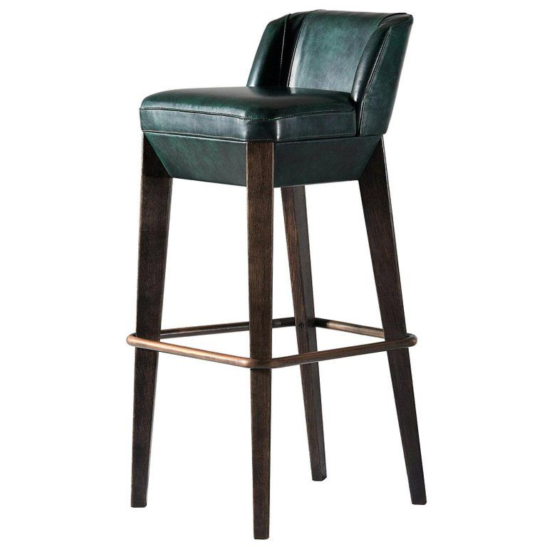 And Objects Stool Chilcomb Bar Copper Foot Rail British Leather Upholstery Oak Bar Stools Bar Furniture For Sale Metal Bar Stools