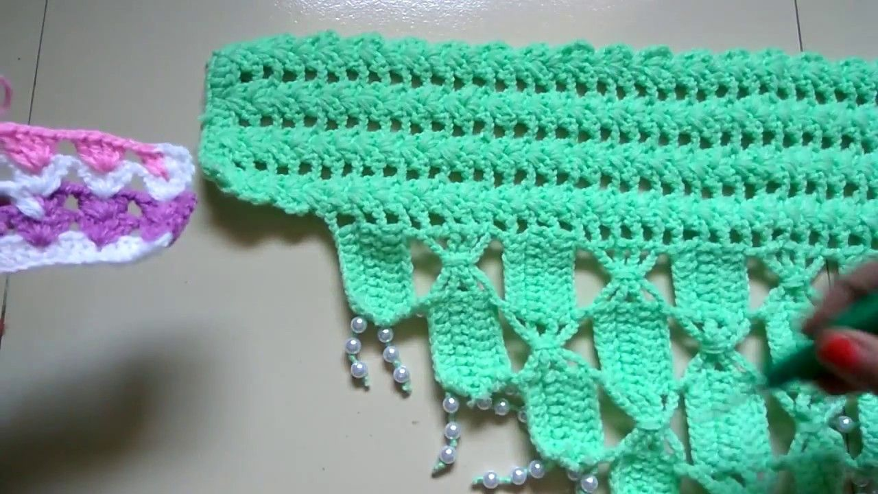 CROCHET TORAN DESIGN 7 (PART-1)   swara 1   Crochet curtains