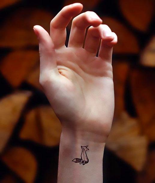 Tiny Wrist Fox Tattoo Idea Tiny Tattoos Tattoos Basic Tattoos